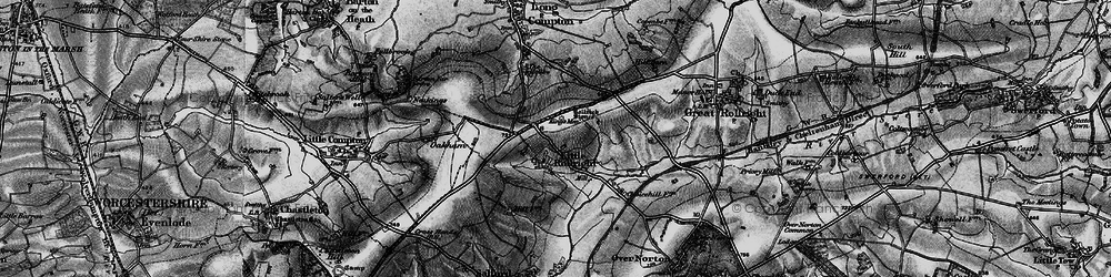 Old map of Whispering Knights in 1896