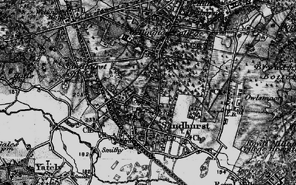 Old map of Wellington College in 1895