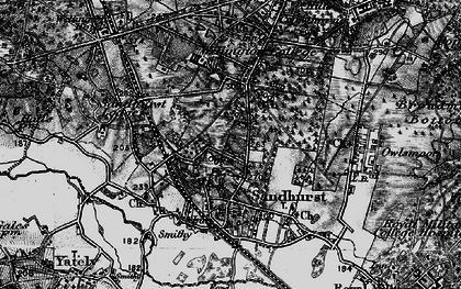 Old map of Little Sandhurst in 1895