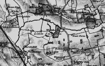 Old map of Westhorpe in 1898