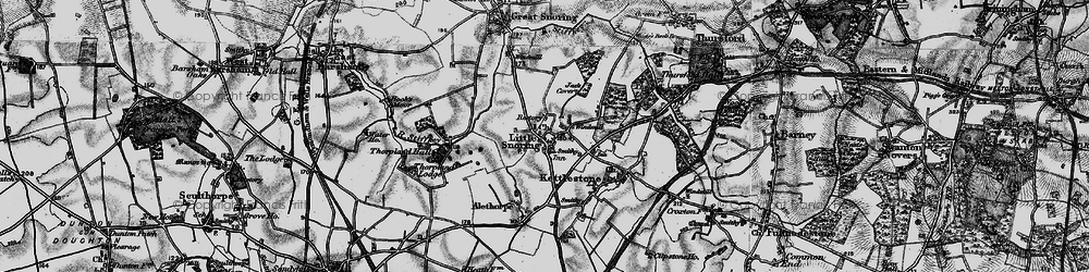 Old map of Alethorpe Hall in 1898