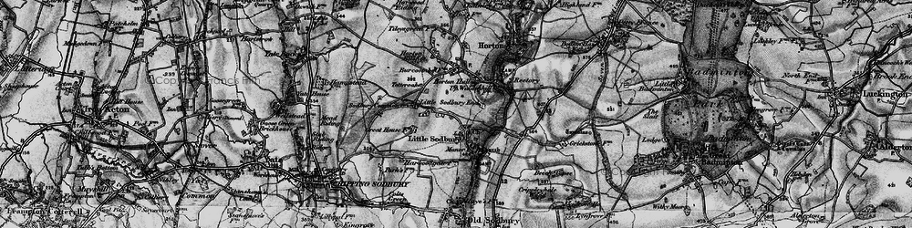 Old map of Little Sodbury in 1898