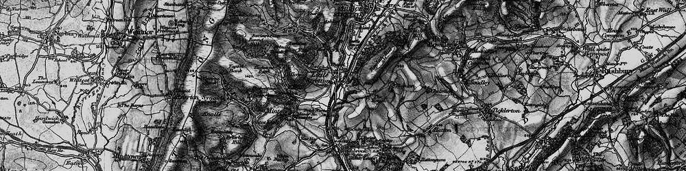 Old map of Little Stretton in 1899