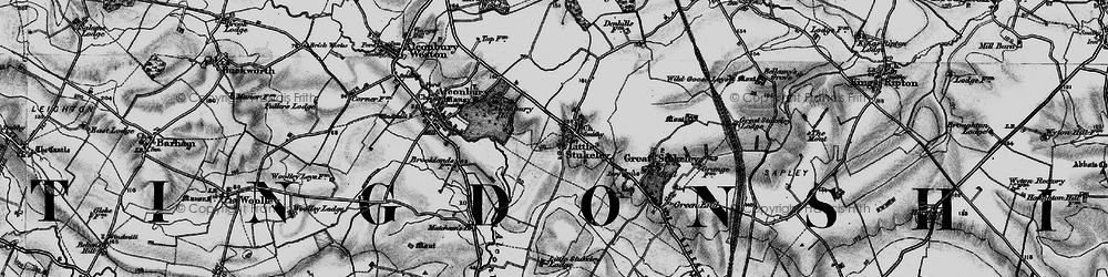 Old map of Alconbury Ho in 1898