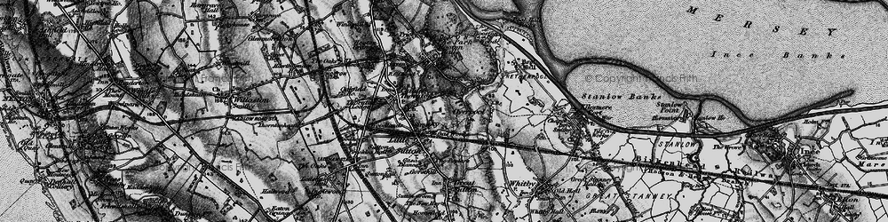 Old map of Little Sutton in 1896