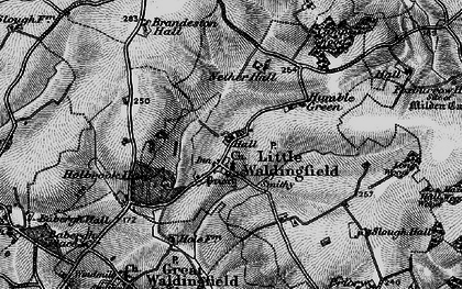 Old map of Little Waldingfield in 1896