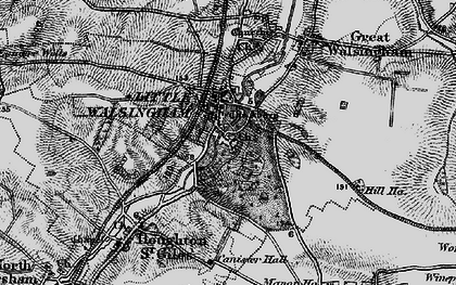 Old map of Little Walsingham in 1899