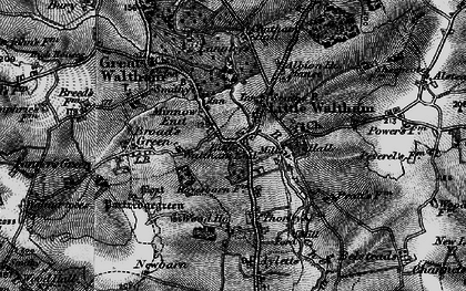 Old map of Little Waltham in 1896