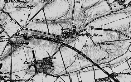 Old map of Little Weighton in 1895