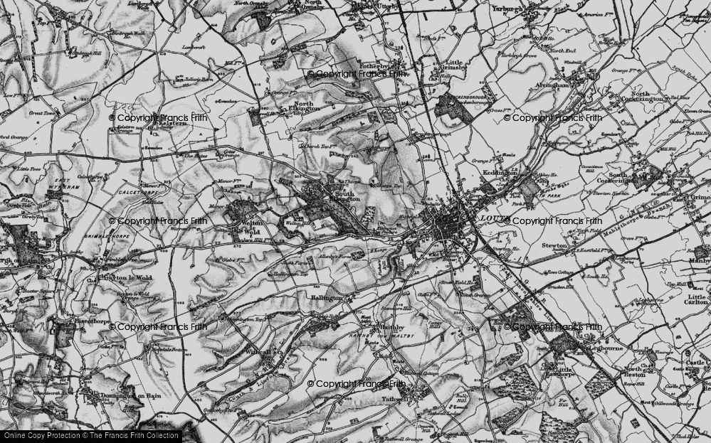 Old Map of Historic Map covering Acthorpe Top in 1899