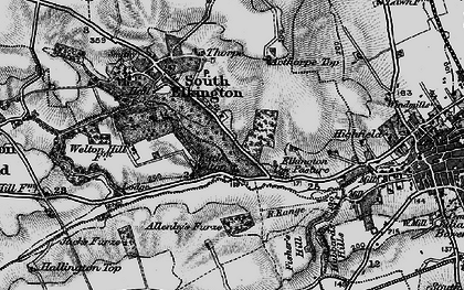 Old map of Acthorpe Top in 1899