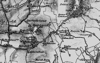 Old map of Abbot's Hall Saltings in 1896