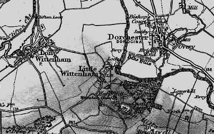 Old map of Wittenham Clumps in 1895