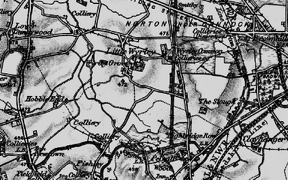 Old map of Wyrley Common in 1899