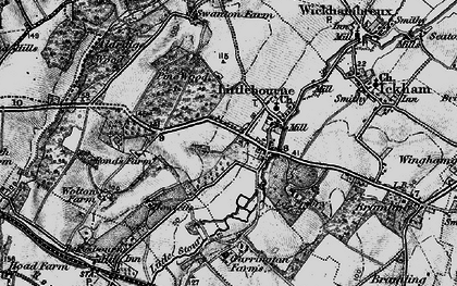 Old map of Littlebourne in 1895