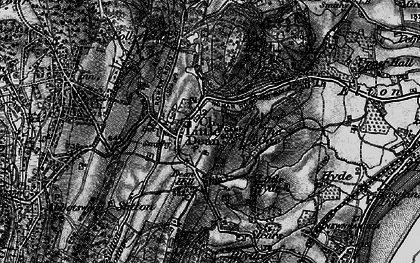 Old map of Littledean in 1896