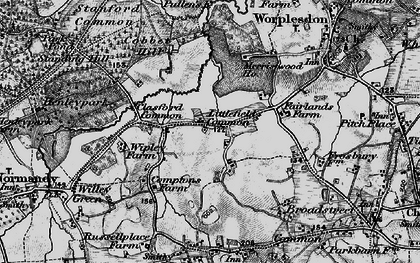 Old map of Whipley Manor in 1896