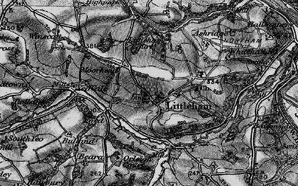 Old map of Littleham Court in 1895