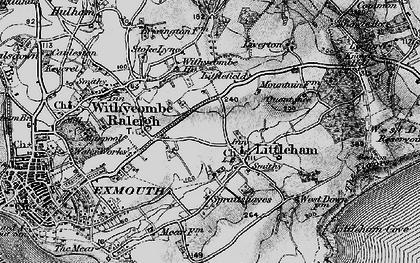 Old map of Littleham in 1898