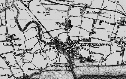 Old map of Littlehampton in 1895