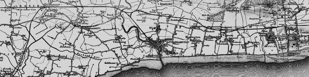 Old map of Littlehampton in 1895