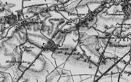 Old map of Littleover in 1895