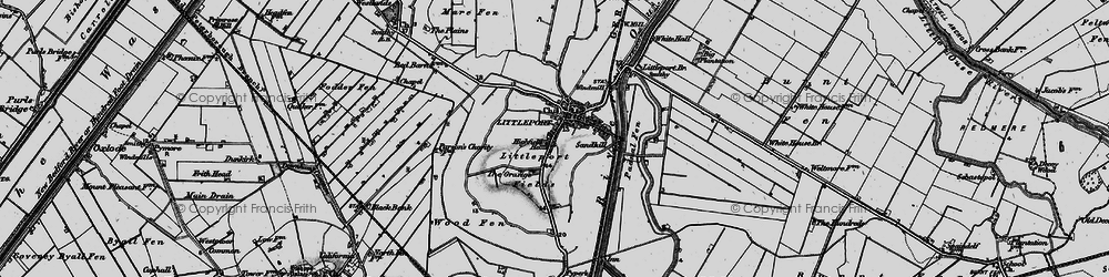 Old map of Wood Fen in 1898