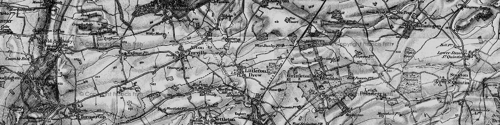 Old map of Littleton Drew in 1898
