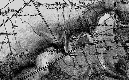 Old map of Barcote Barn in 1895