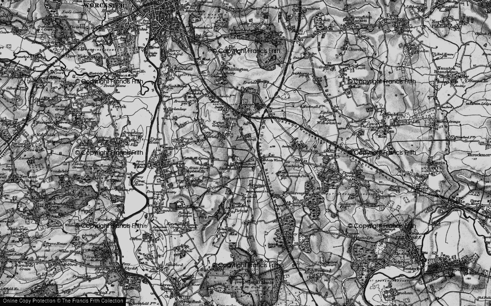 Old Map of Historic Map covering Abbotswood in 1898