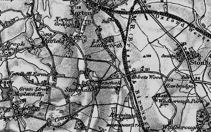 Old map of Abbotswood in 1898
