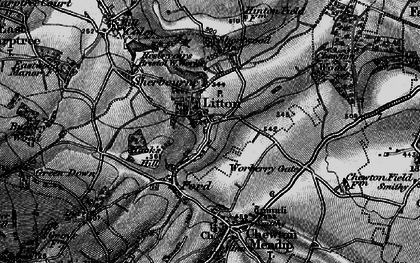 Old map of Litton in 1898