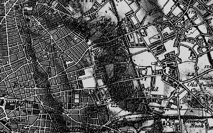 Old map of Liverpool in 1896