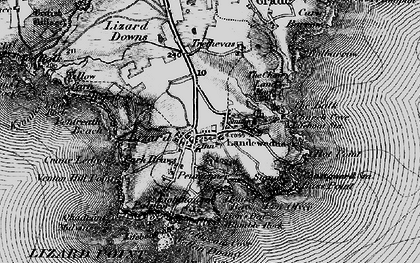 Old map of Lizard in 1895