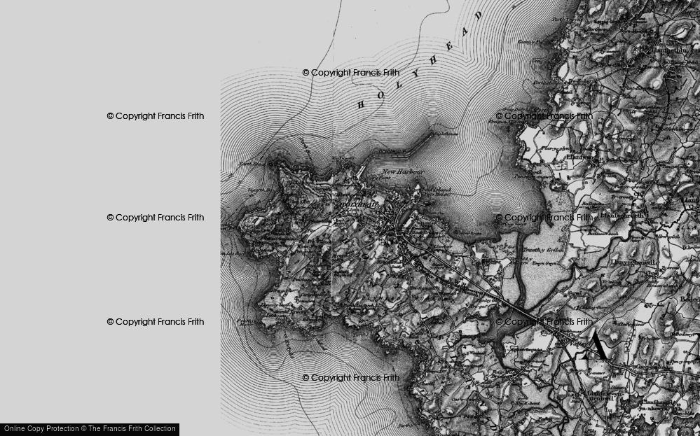 Old Map of Llaingoch, 1899 in 1899