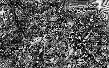 Old map of Ynys Wellt in 1899