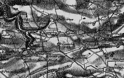 Old map of Afon Alun in 1897