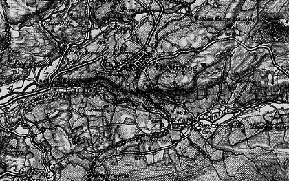 Old map of Llan Ffestiniog in 1899