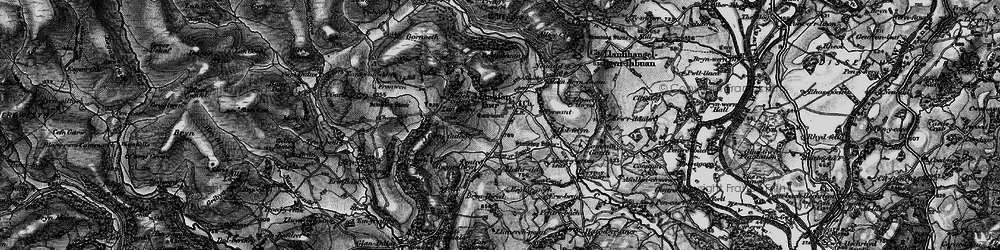Old map of Allt y Clych in 1898