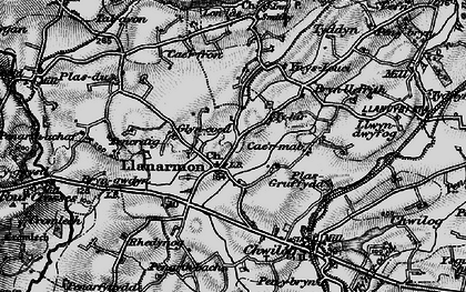 Old map of Llanarmon in 1899