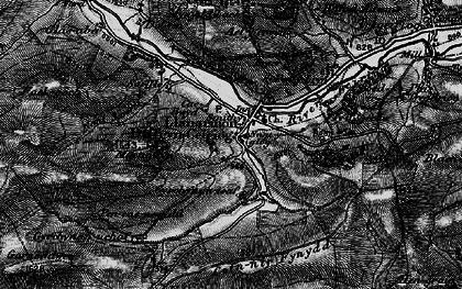 Old map of Llanarmon Dyffryn Ceiriog in 1897