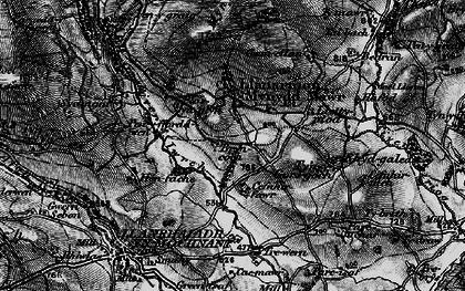 Old map of Afon lwrch in 1897