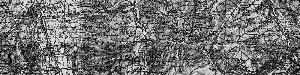 Old map of Llanarmon-yn-Ial in 1897