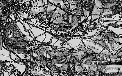 Old map of Llanbadarn Fawr in 1899