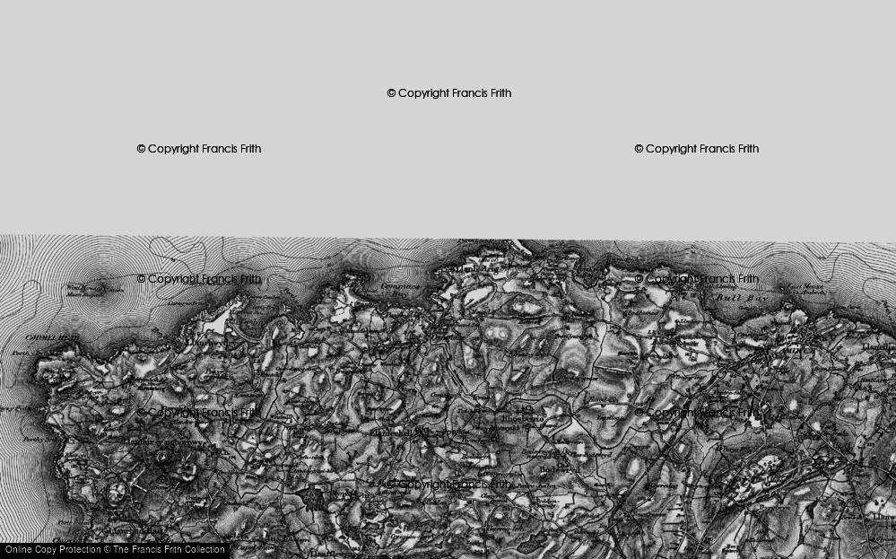 Old Map of Llanbadrig, 1899 in 1899
