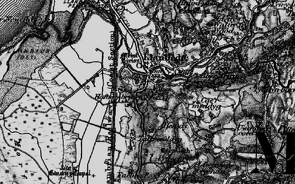 Old map of Llanbedr in 1899