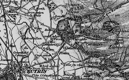Old map of Llanbedr-Dyffryn-Clwyd in 1897