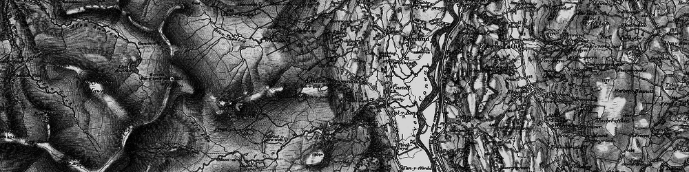 Old map of Afon Dulyn in 1899