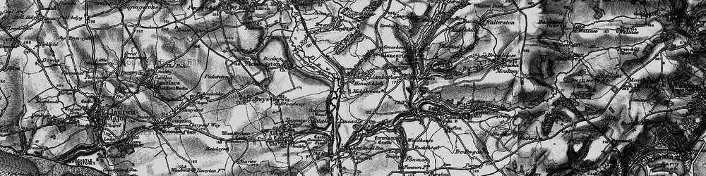 Old map of Llanbethery in 1897