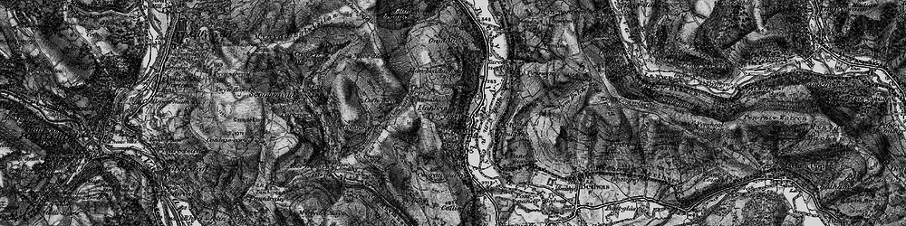 Old map of Llanbradach in 1897